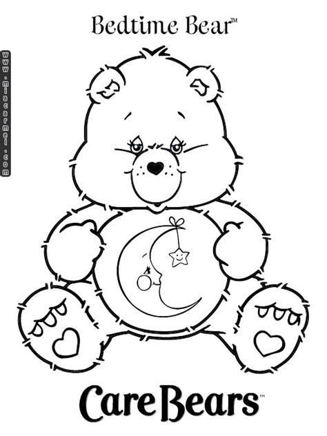 Care Bears Coloring Pages Bedtime Bear 1 Gif 540 215 720 Bedtime Coloring Pages