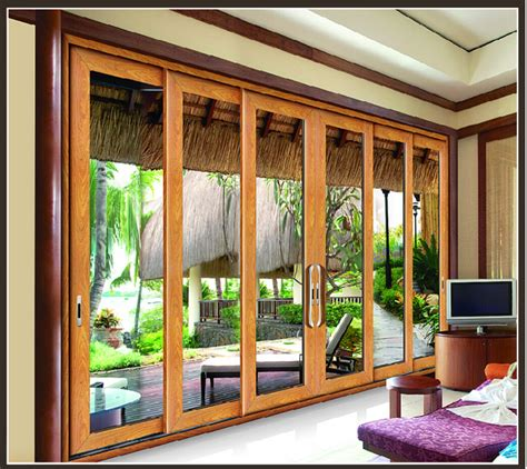 Powder Coating Soundproof French Doors 3 Panel Sliding Soundproof Sliding Glass Doors