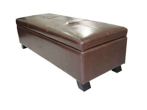 storage benches and ottomans leather storage ottoman bench benches