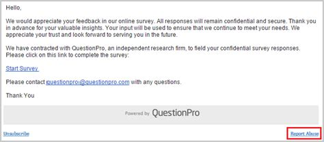 Report Email Abuse by Email Abuse Policy Reporting Email Spam Abuse Surveyanalytics Survey Software