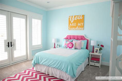 blue and pink girls bedroom pink and aqua blue preteen girls bedroom