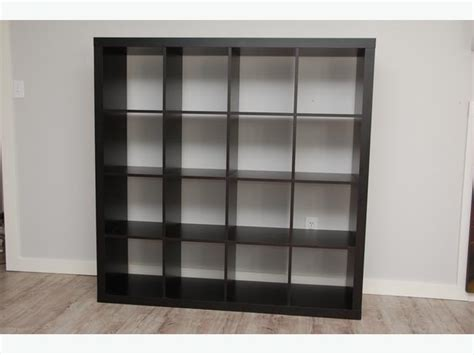 ikea expedit shelving unit black brown 4x4 jeah saanich