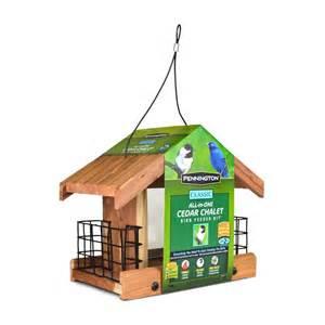 Lowes Bird Feeders Shop Pennington Cedar Hopper Bird Feeder Seed Included