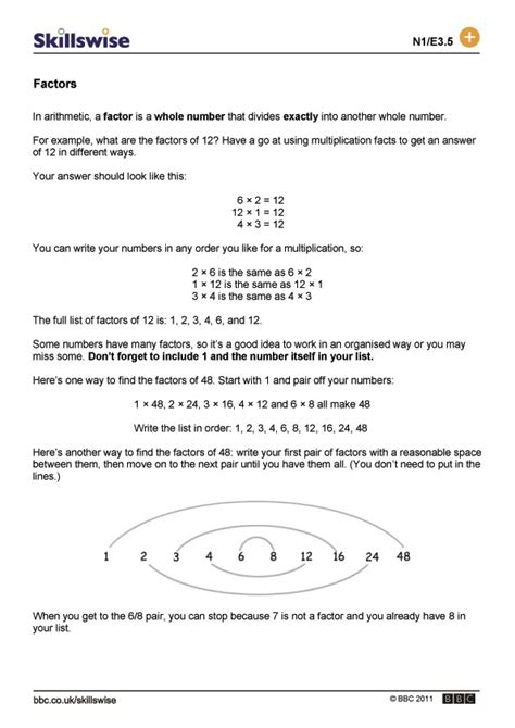 printable worksheets on factors and multiples factors and multiples worksheets worksheets