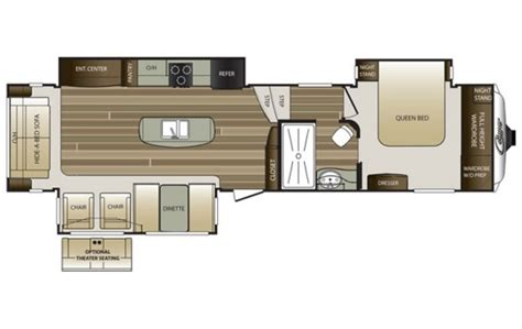 cougar 5th wheel floor plans 2016 cougar 333mks floor plan 5th wheel keystone rv