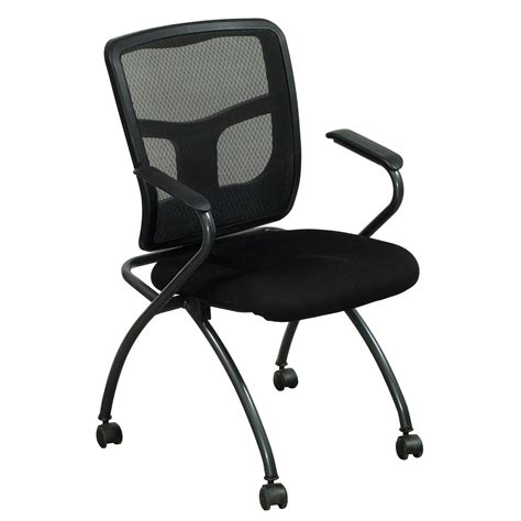 premiera used mesh back nesting chair black national