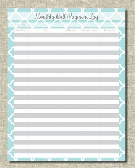 free printable bill and payment organizer clean mama