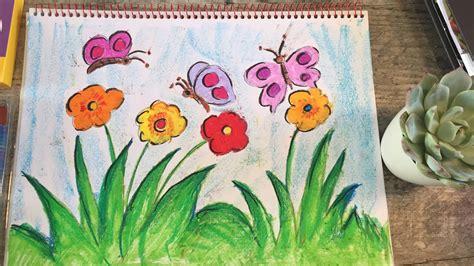 draw butterflies   garden   draw