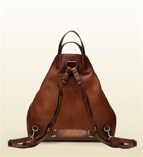 Garucci Bagpack Putih Kombinasi 2 lyst gucci gactive brown leather backpack in brown for