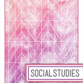 school watercolor binder dividers social