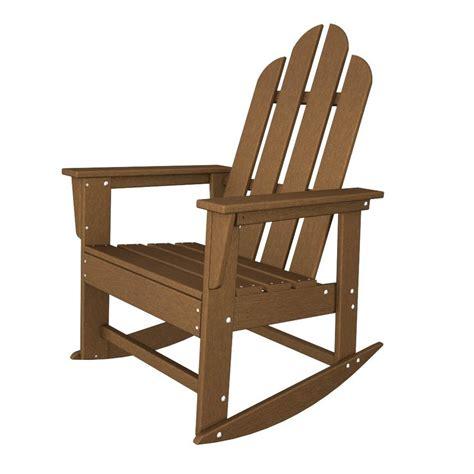 Rocking Adirondack Chairs by Shop Polywood Island Teak Recycled Plastic Rocking
