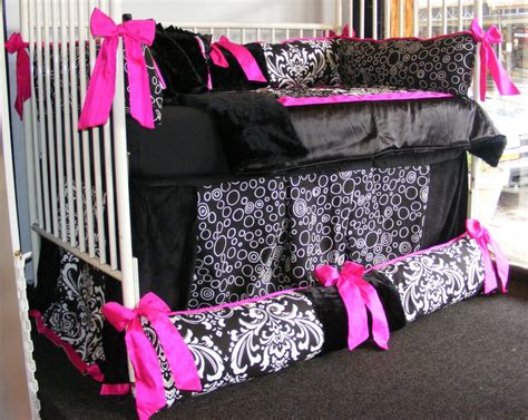 Pink Black Crib Bedding Pink And Black Crib Bedding Minnie Mouse W Pink And Black Crib Bedding Set Decorate My House