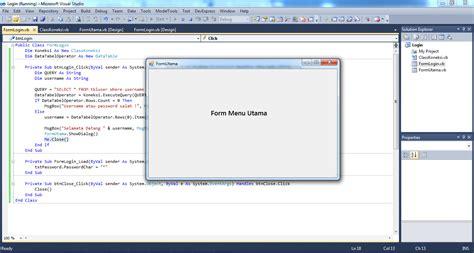 membuat form login  visual studio  visual basic