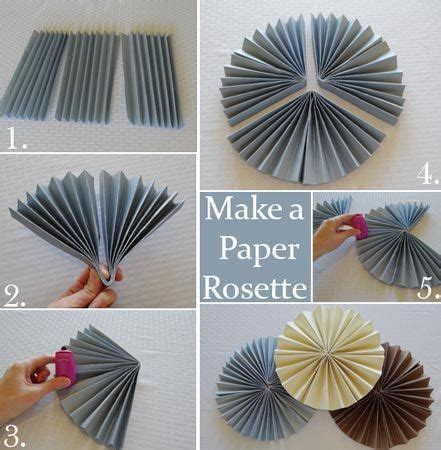 What We Can Make From Paper - how to make a paper rosette apparently gold cardstock