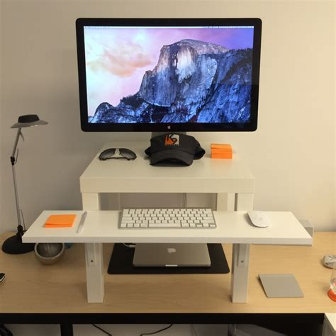 ikea laptop desk hack ikea standing desk hack ikea lack minimalist desk design