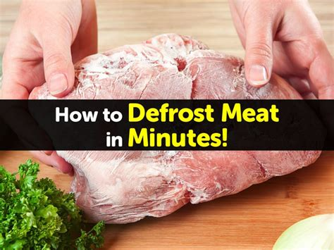 how to defrost meat in minutes