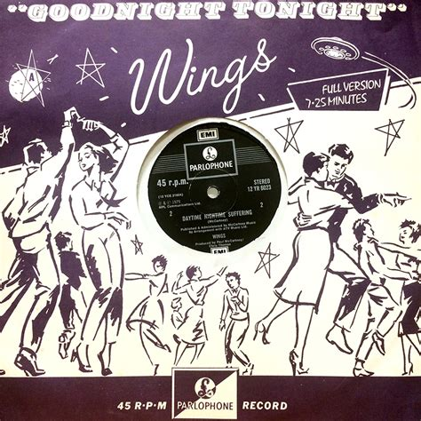 12 Inch Vinyl Singles by A Signed Wings 12 Inch Vinyl Single Record Entitled