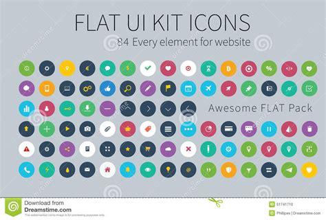 design icon pack flat ui kit pack icons for webdesign or mobile design