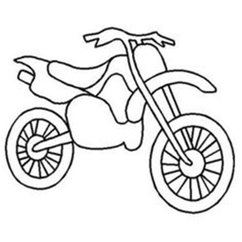 easy dirt bike coloring pages drawing simple dirt bikes clipart best