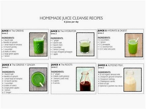 Detox Juices Diet Plan by The Juice Cleanse Diet