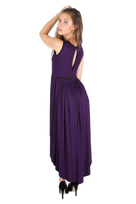 Tc49 Midi Keyhole Maxi Dress womens keyhole back lace mesh insert belt high low maxi midi dress top ebay