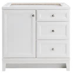White Bathroom Vanity 36 X 18 Shop Freshfit Calhoun White Bathroom Vanity
