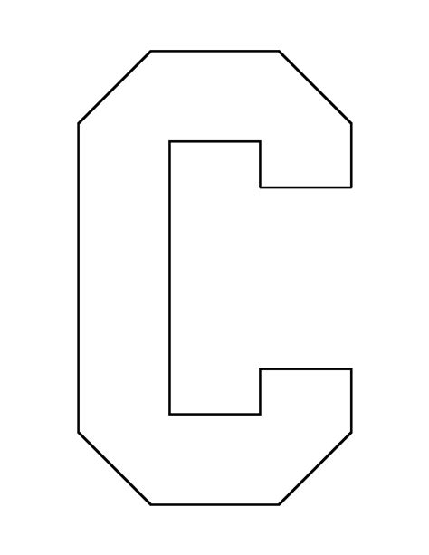 printable alphabet patterns letter c pattern use the printable outline for crafts