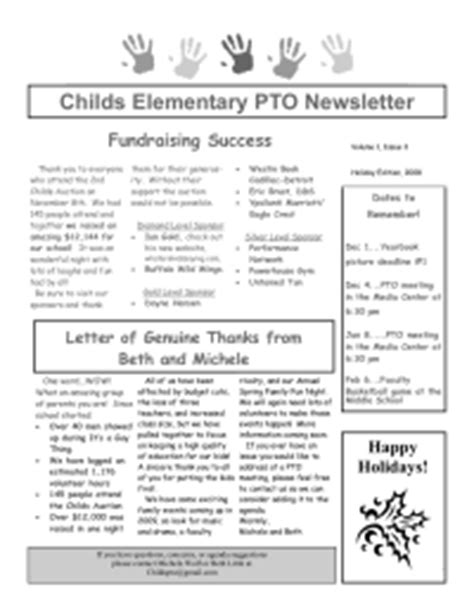 pto newsletter templates free newsletters etc pto today