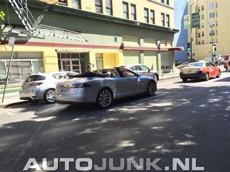 Tesla Hits Tesla Model S Convertible Hits The Streets Of San