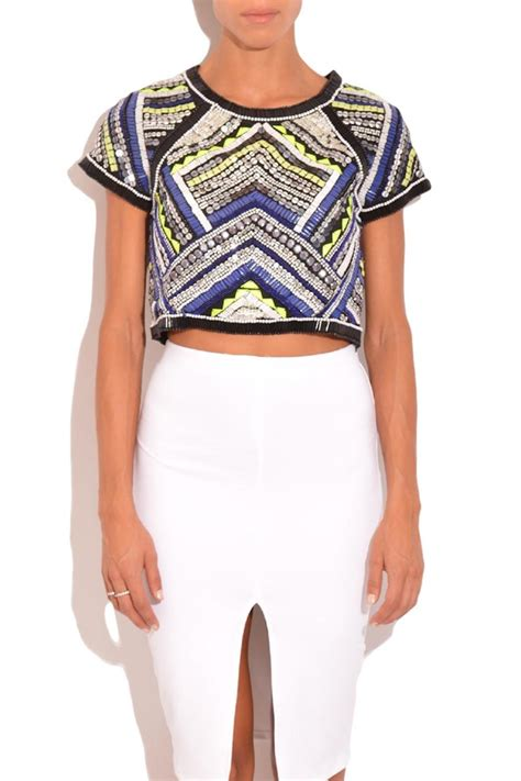 beaded crop top beaded crop top from florida by rhythm of grace