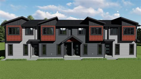 multi family multi family fourplex 0504 kenzo home designs