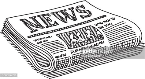 kranten layout word newspaper drawing vector art getty images