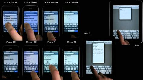 iphone     gs    classic  ipod touch     ipad  ipad  speed comparison