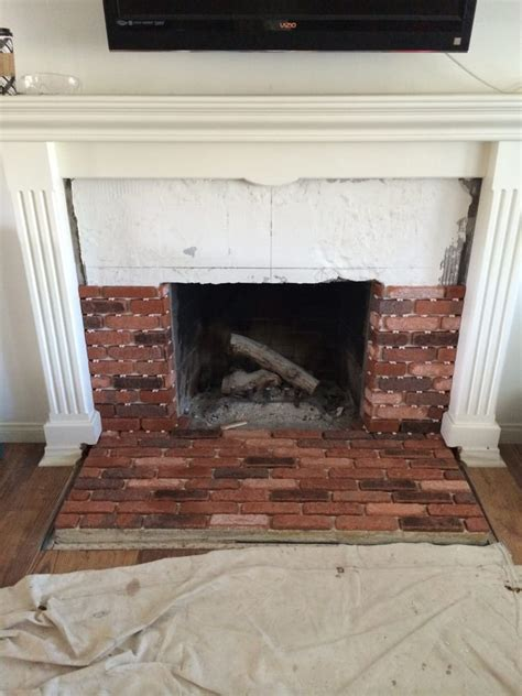 Brick Veneer Fireplace by Brick Veneer Fireplace Remodel Yelp