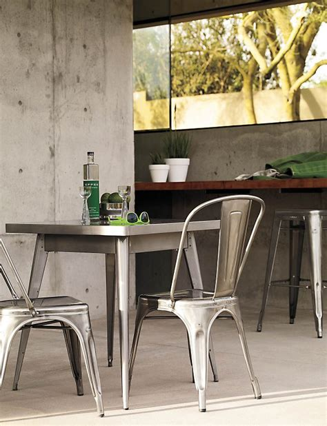 tolix table and chairs tolix 174 marais two seater dining table design within reach