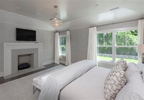 Gray Bedroom Tray Ceiling Interior Design Inspiration Photos By Blue Water Home