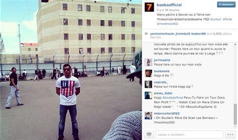 booba poste une photo d un prisonnier morray versus zoulette