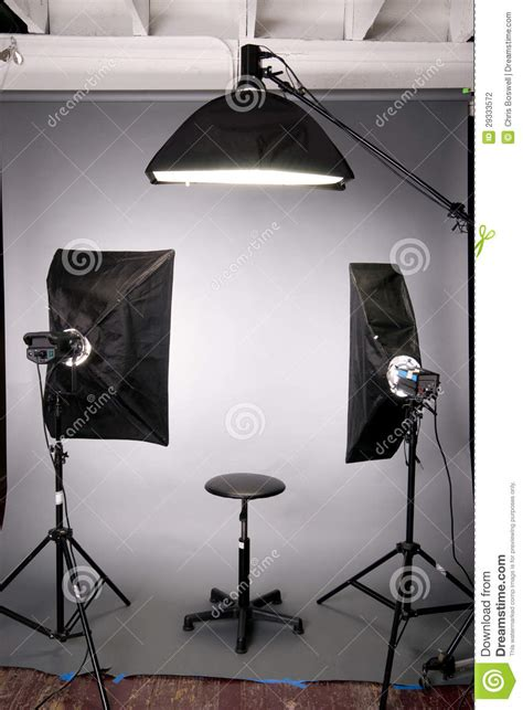 studio photography lighting setup photography studio lighting background setup grey stock