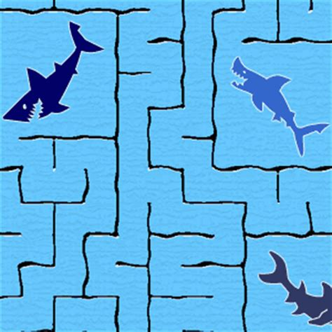 printable shark maze pin shark tales games icebreakers printable puzzles mazes