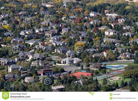 people who buy houses suburb community homes royalty free stock image image