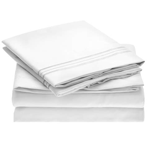 bed sheet reviews harmony linens bed sheet set 1800 double brushed microfiber bedding 4 piece