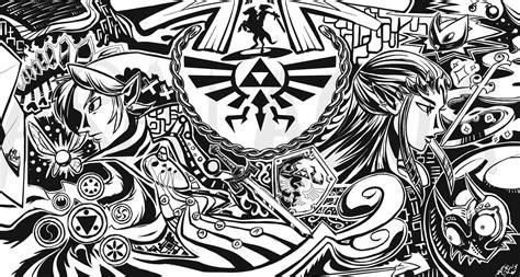 black and white zelda wallpaper wallpaper triforce zelda artwork jeux video info