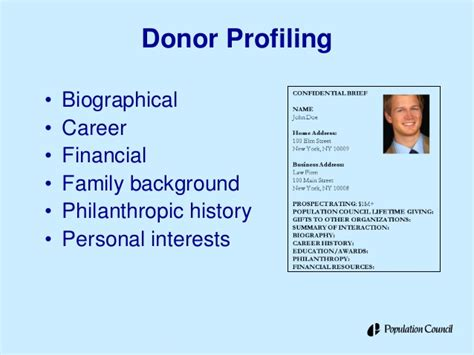 Major Donor Fundraising Tips Population Council Hiv Aids Retreat Donor Prospect List Template