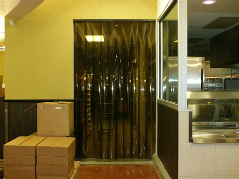 Pvc Curtain Opaque Black yellow black and blue door kits