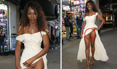 Gets More Exposed by Exposed Sinitta Shamelessly Bares Knickers As Hip