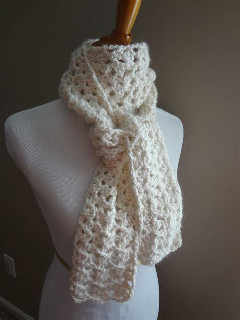 crochet pattern simple scarf fiber flux free crochet pattern vanilla bean scarf
