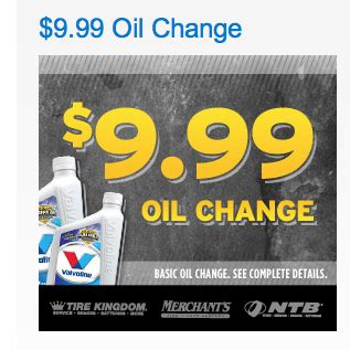 ntb tires   disposal fee oil change  coupon ends sunday alcom