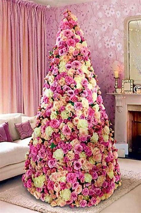 flower theme christmas trees decorating ideas pictures 23 beautiful paper flowers very original christmas tree