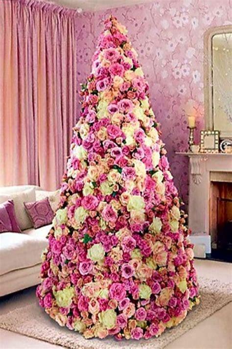 paper flowers very original christmas tree