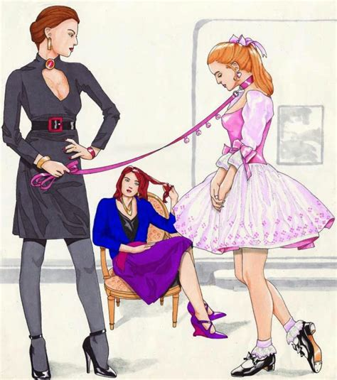 sissy boys training art crossdresser sissy femdom bondage maid art tied petticoat